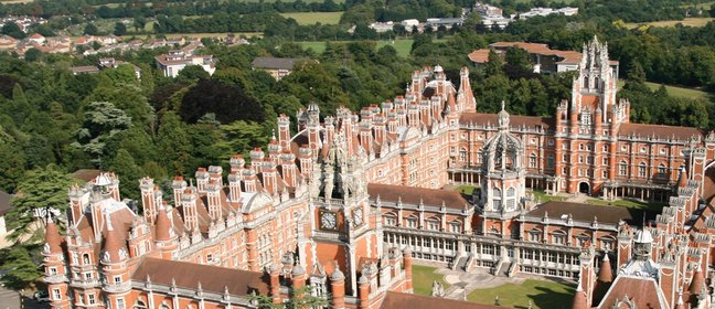 Aerial shot of Royal Holloway