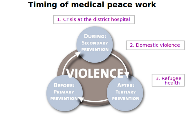 Model: Case 3 and timing of Medical Peace Work