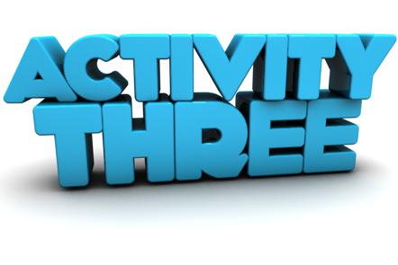 Image of text saying 'Activity Three'.