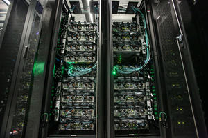 This image shows a detail of the new supercomputer at HLRS