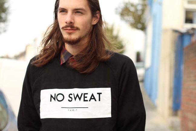 men's Fairtrade, sweatshop free sweat shirt from Fair-T
