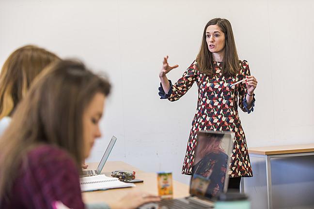 Lecturer giving a presentation