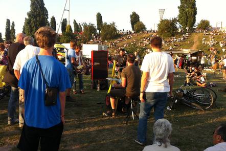 A public concert in a park in Berlin
