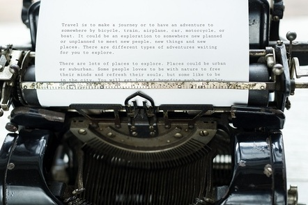 Sentences on a typewriter