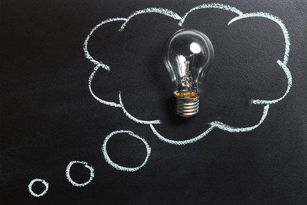 A bulb representing thinking, ideas, imagination, innovation.