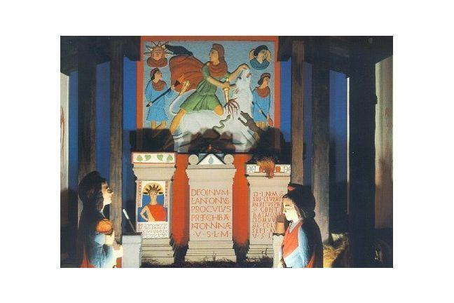 Reconstruction of an altar to Mithras