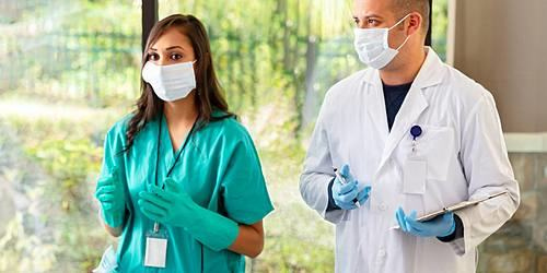 Healthcare professionals in PPE
