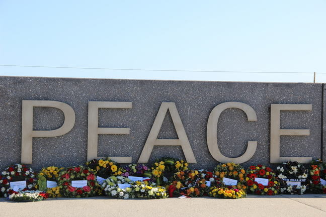 Peace wall from the National Anzac Centre in Albany, Australia
