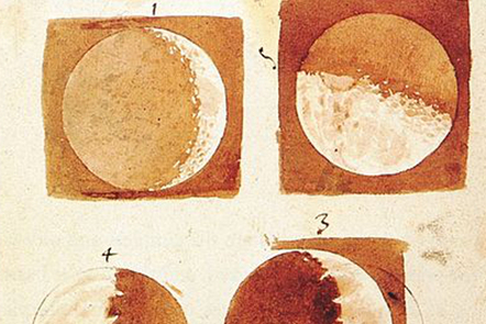 The phases of the moon by Galileo