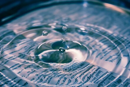 A drop of water creating a ripple effect