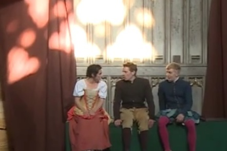 """Scene from """"Love's Victory"""" at Penshurst Place (2018)."""