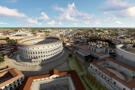 A digital reconstruction of the Colosseum site