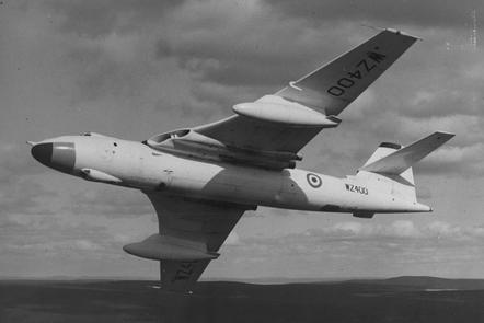 A Vickers Valiant in flight.