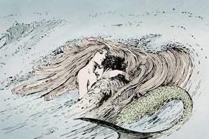 Illustration of Hans Christian Andersen's Little Mermaid