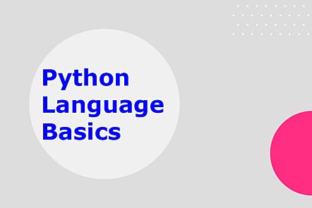 Python language basics