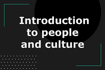 Introduction to people and culture