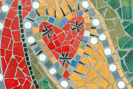 Body maps mosaic: heart