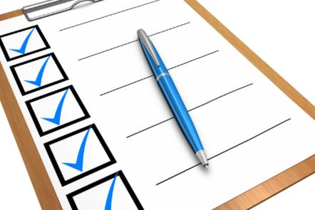image of clipboard checklist