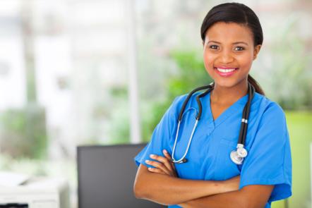 Young female practice nurse (image: ©Shutterstock)