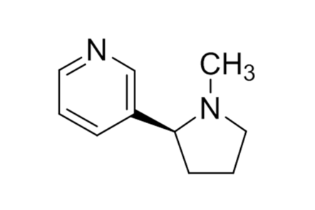 A molecule of nicotine.