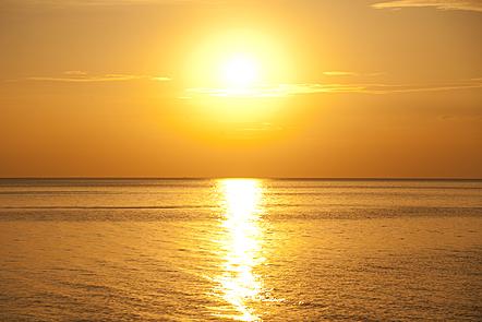The sea on sunset
