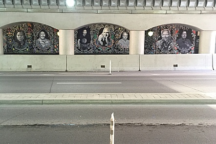 Image of underpass and art