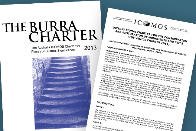 The Burra Charter and the Venice Charter