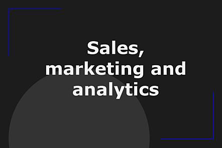 Week 4: Sales, marketing and analytics