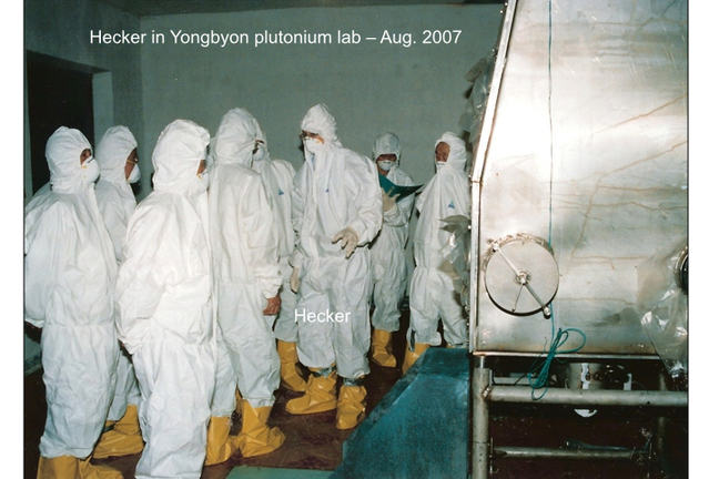 Dr. Seigfried Hecker of Stanford University in DPRK Yongbyon plutonium lab, August 2007