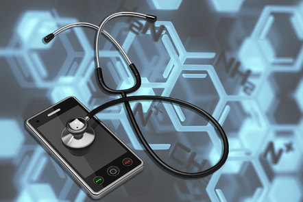Stethoscope on a mobile phone