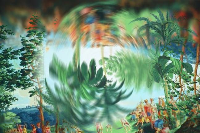 Les Sauvages de la mer Pacifique turned upside down