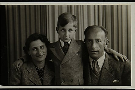 Bob Norton with his parents Karl and Marianne. June 1940, London