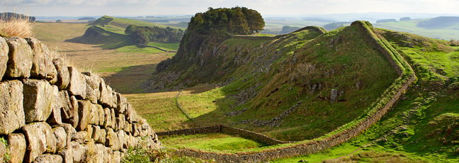 Hadrian's Wall - the Roman Empire's most heavily fortified frontier. Copyright Newcastle University.