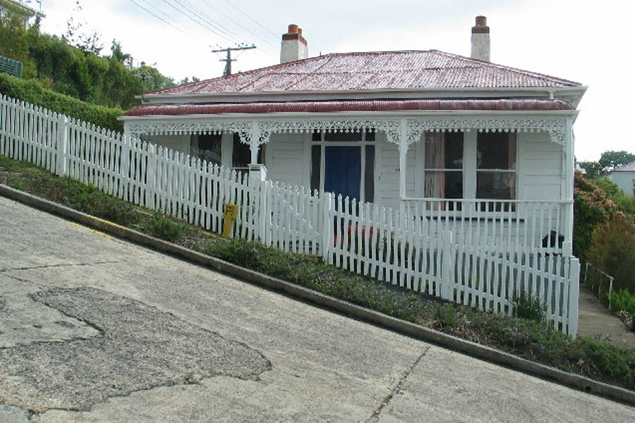 Baldwin Street - a house on a road with a steep slope