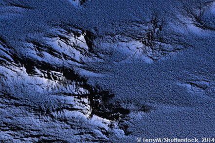 Topographical map of the ocean © TerryM/Shutterstock, 2014