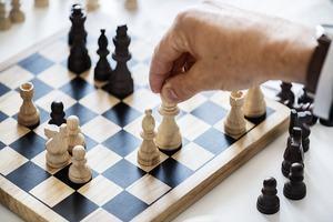 A chess board.