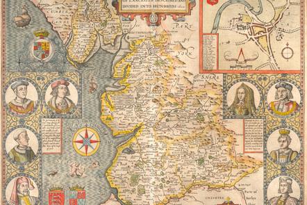 John Speed's map of Lancashire