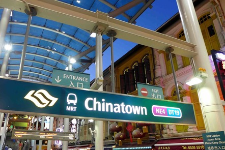 External shot of Chinatown MRT station entrance in Singapore