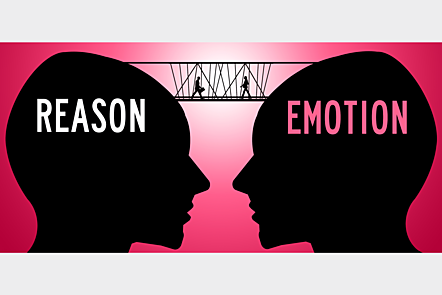 Reason and emotion are often seen as opposites in conflict. How can we reconcile the two?