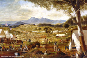 Gold diggings, Ararat, 1858 painted by Edward Roper Dixson Galleries, State Library of NSW