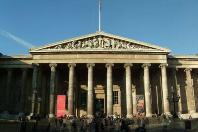 The British Museum exterior of building