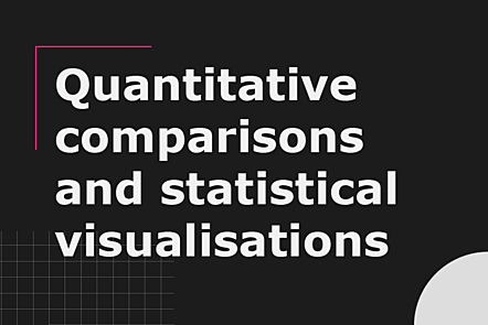 PFP01-Title card-Quantitative comparisons and statistical visualisations
