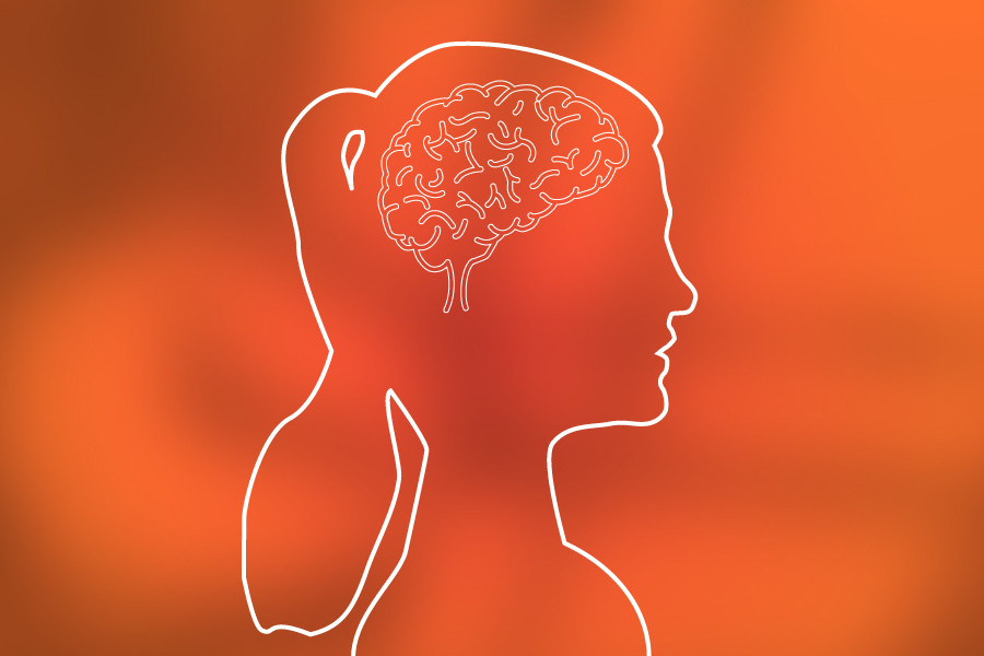 Profile image of a woman's brain