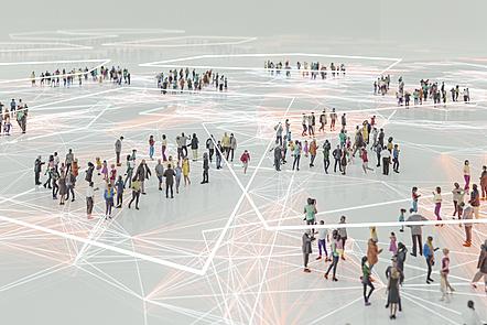 The meeting between people