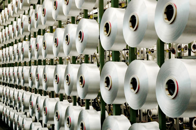 spools of recycled nylon fibre from Econyl