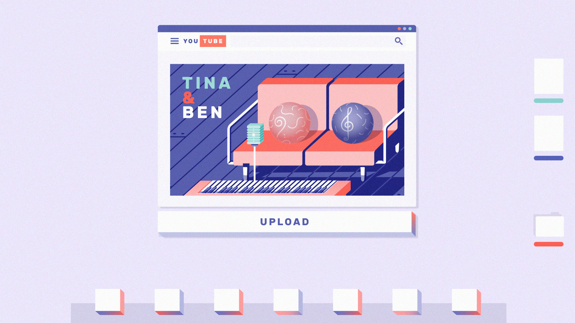 Image of music file from Tina and Ben uploaded to music website.