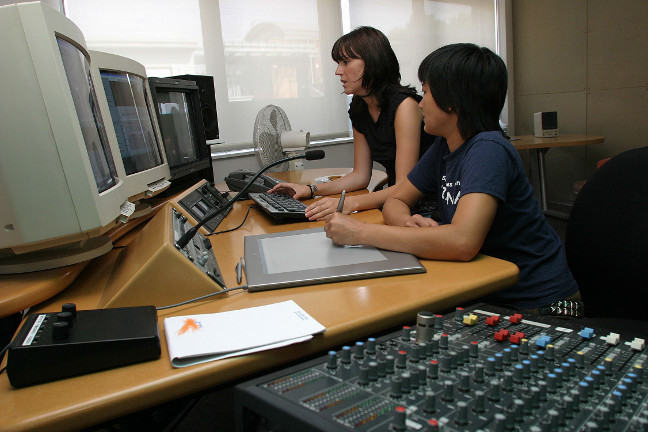 Editors in an editing suite