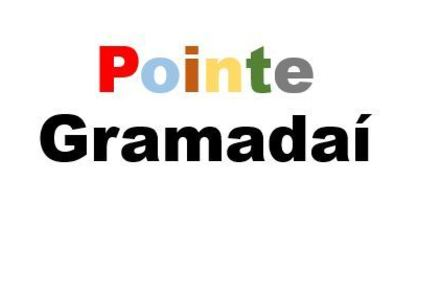 A cartoon image of 'pointe gramadaí'