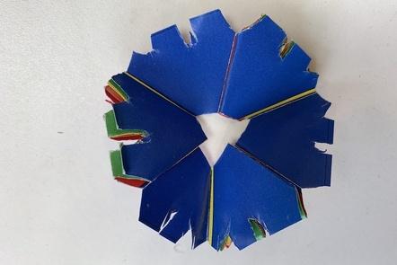 An artistically destroyed flexagon