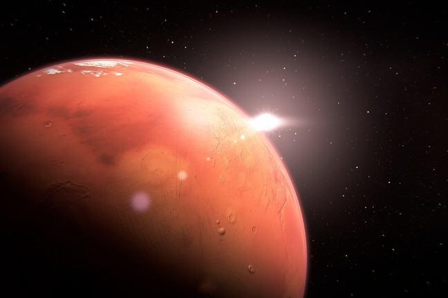 The planet Mars.